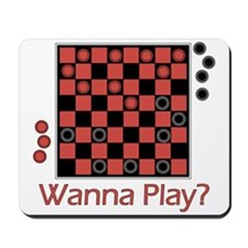 Wanna Play Checkers? Mousepad