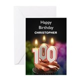 Grandmas 100th birthday add personal name Greeting Cards