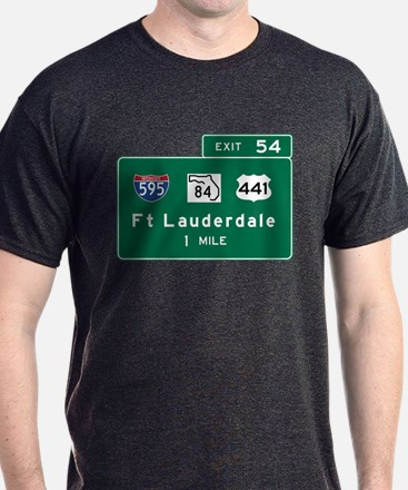 Fort Lauderdale, FL Road Sign, USA T-Shirt