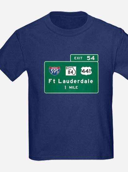 Fort Lauderdale, FL Road Sign, U T