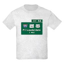 Fort Lauderdale, FL Road Sign, T-Shirt