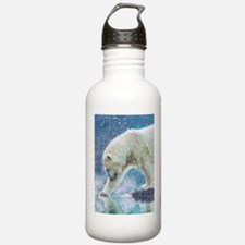 A polar bear at the water Water Bottle
