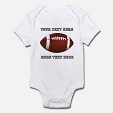 Personalized Football Infant Bodysuit