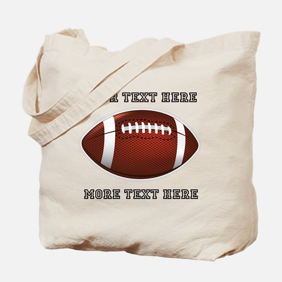 Personalized Football Tote Bag
