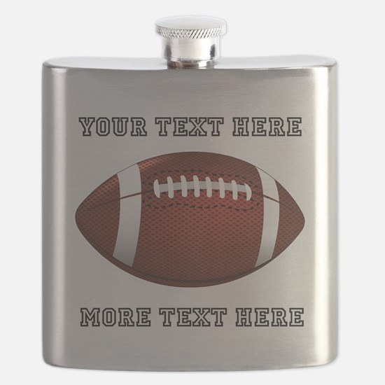 Personalized Football Flask