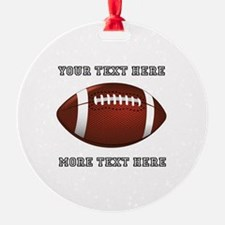 Personalized Football Ornament