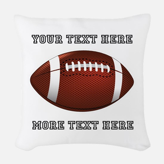 Personalized Football Woven Throw Pillow