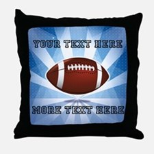 Personalized Football Throw Pillow
