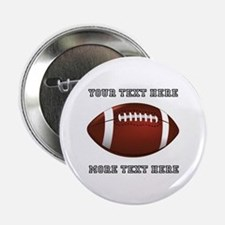 "Personalized Football 2.25"" Button"