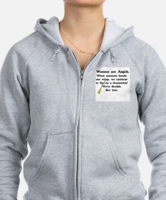 WOMEN ARE ANGELS - FLY ON BROOM Zip Hoodie