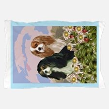 Two Cavaliers in the garden Pillow Case