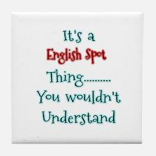 English Spot Thing Tile Coaster