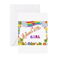 Holland Lop Girl Greeting Cards