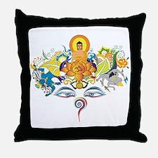 Buddha eyes Throw Pillow