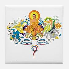Cool Buddha eyes Tile Coaster