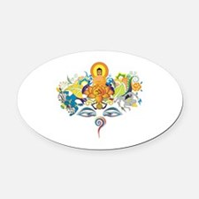 Unique Buddha eyes Oval Car Magnet