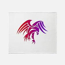 eagle tribal tattoo design Throw Blanket
