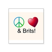Peace Love & Brits Sticker