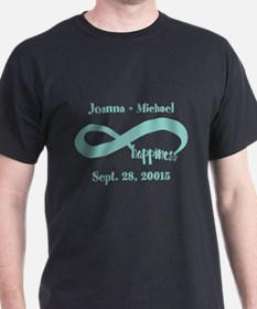 Infinity Happiness Custom Names T-Shirt