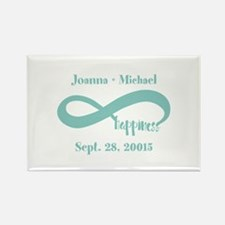 Infinity Happiness Custom Names Rectangle Magnet