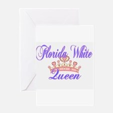 Florida White Queen Greeting Cards