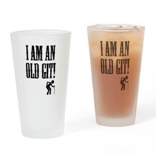 Funny Git Drinking Glass