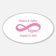 Pink Custom Infinite Happiness Sticker (Oval)
