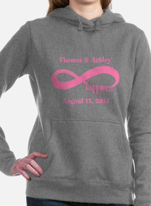 Pink Custom Infinite Hap Women's Hooded Sweatshirt