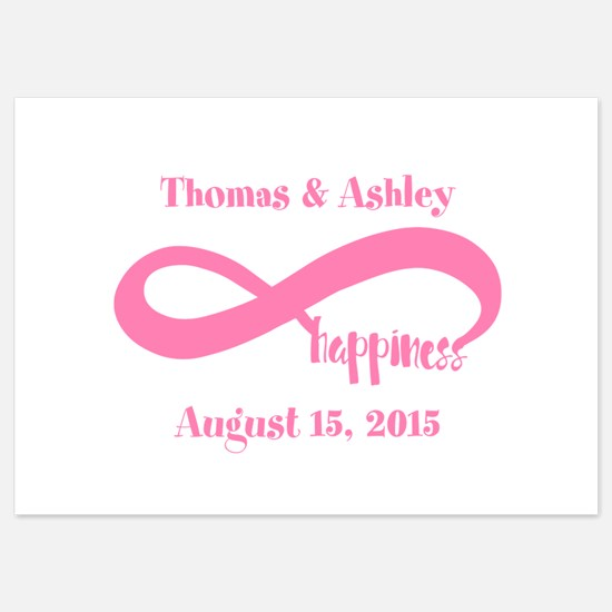 Pink Custom Infinite Happiness 5x7 Flat Cards