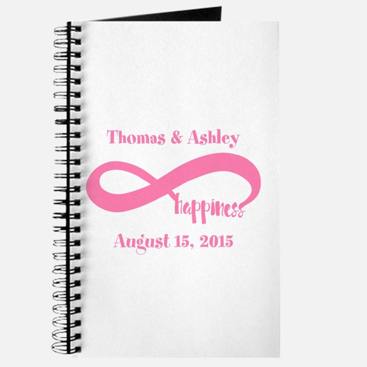 Pink Custom Infinite Happiness Journal