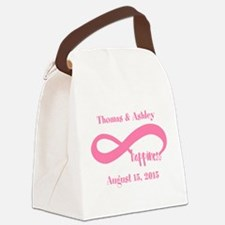 Pink Custom Infinite Happiness Canvas Lunch Bag
