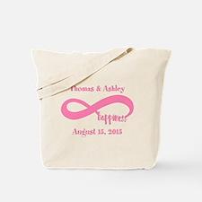 Pink Custom Infinite Happiness Tote Bag