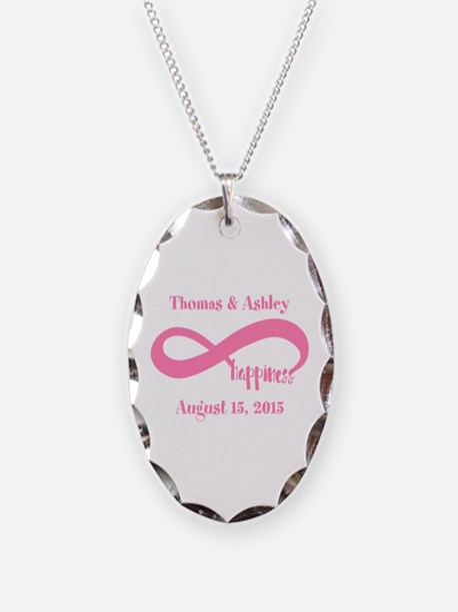 Pink Custom Infinite Happiness Necklace