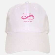 Pink Custom Infinite Happiness Baseball Baseball Cap