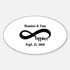 Bride and Groom Infinity Modern Hap Decal
