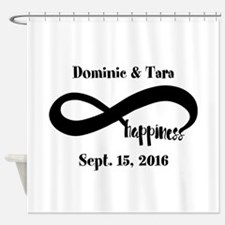 Bride and Groom Infinity Modern Hap Shower Curtain