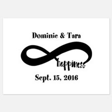 Bride and Groom Infinity Modern Hap Invitations