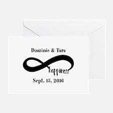 Bride and Groom Infinity Modern Happ Greeting Card