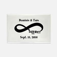 Bride and Groom Infinity Modern H Rectangle Magnet
