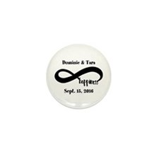 Bride and Groom Infinity Mod Mini Button (10 pack)