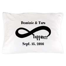 Bride and Groom Infinity Modern Happin Pillow Case