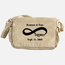 Bride and Groom Infinity Modern Happ Messenger Bag