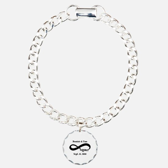 Bride and Groom Infinity Charm Bracelet, One Charm
