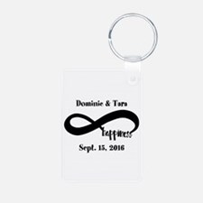 Bride and Groom Infinity M Aluminum Photo Keychain