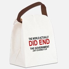 Funny End world Canvas Lunch Bag