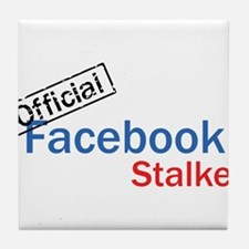 Official Facebook Stalker Tile Coaster