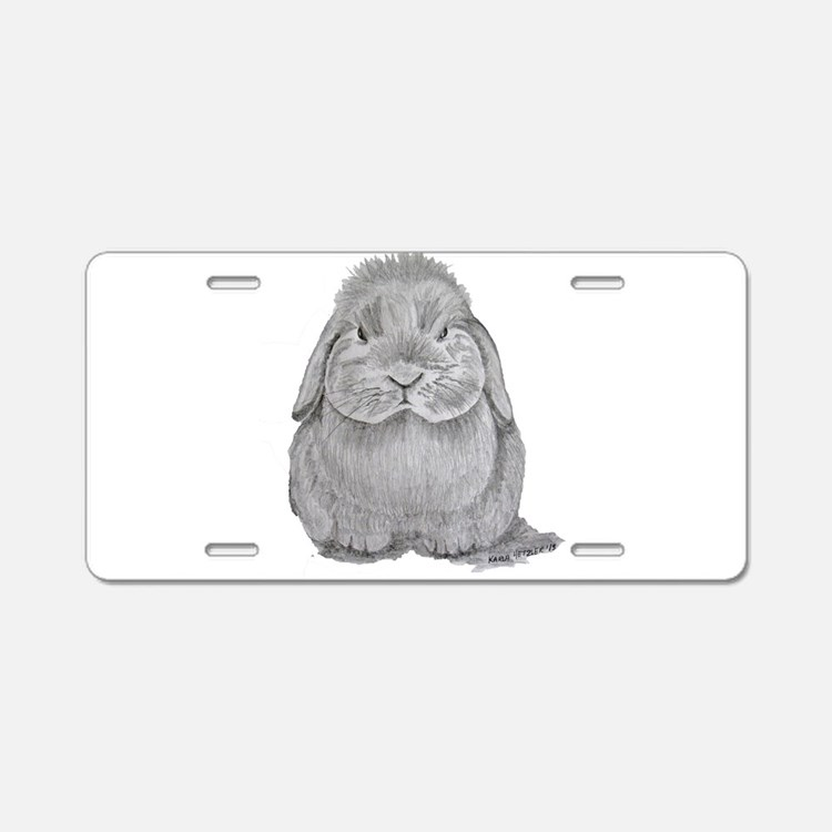 Holland Lop by Karla Hetzler Aluminum License Plat