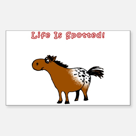 Appaloosa 2, Life Is Spotted! Sticker (Rectangular