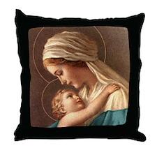 Madonna and Child Designer Throw Pillow