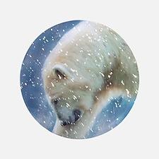 A polar bear at the water Button